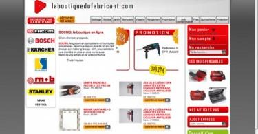 Site internet la boutiquedufabricant.com