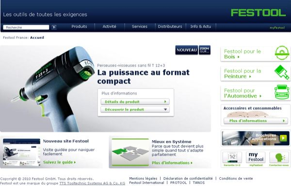 Site internet Festool