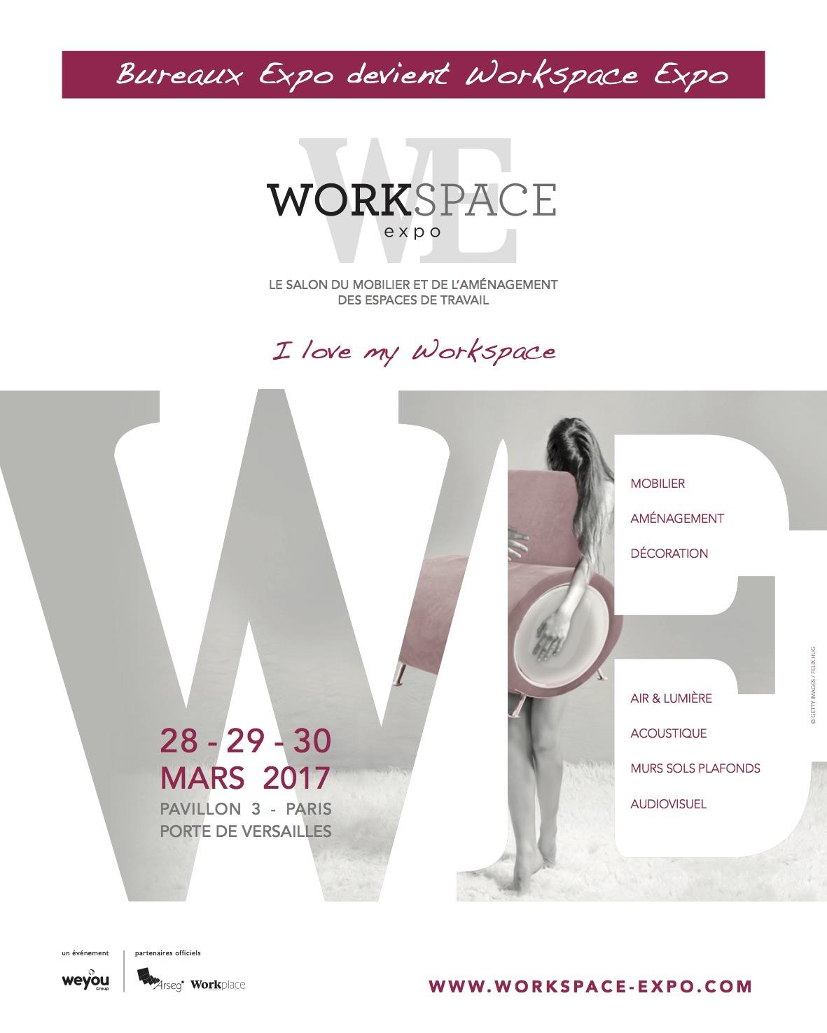 Workspace expo du 28 au 30 mars 2017 paris 75 l for Salon workspace