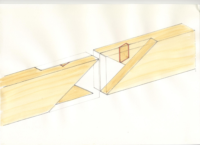 Assemblage enture double sifflet l 39 atelier bois - Assemblage bois japonais ...