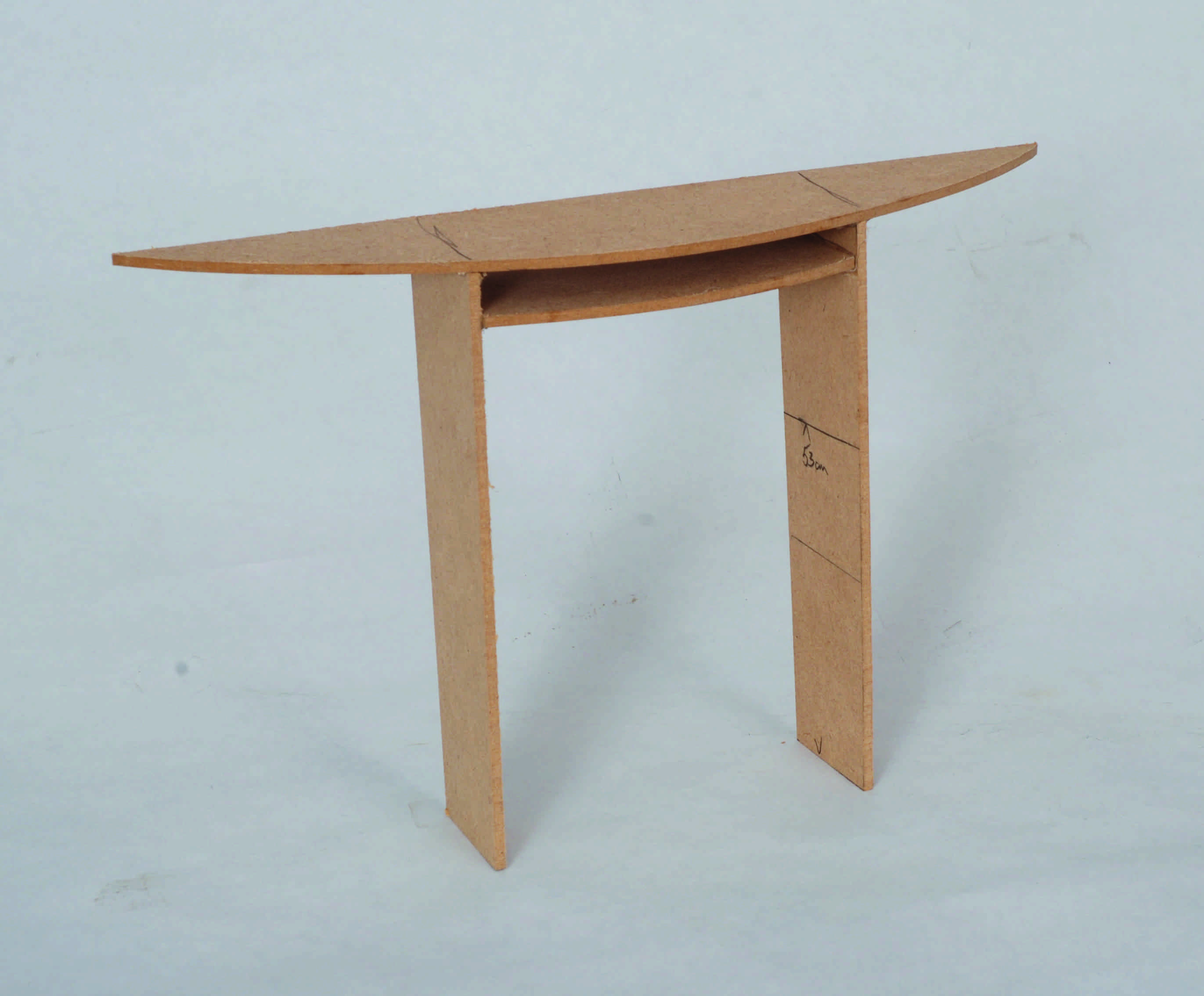 R alisation confirm une table demi lune l 39 atelier - Table demi cercle ...