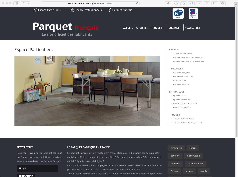 Un Portail Pour Le Parquet L 39 Atelier Bois