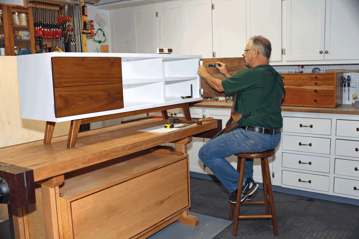 Ma Petite Fabrique De Meubles un meuble télé au design scandinave - l'atelier bois